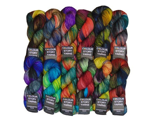 Colour Story Yarns Handpainted Sock Yarn  ( 1 - Super Fine , 100g )