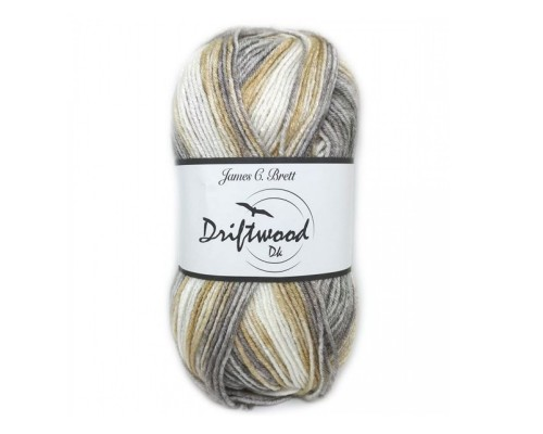 James C Brett Driftwood DK Yarn ( 3-Light , 100g )