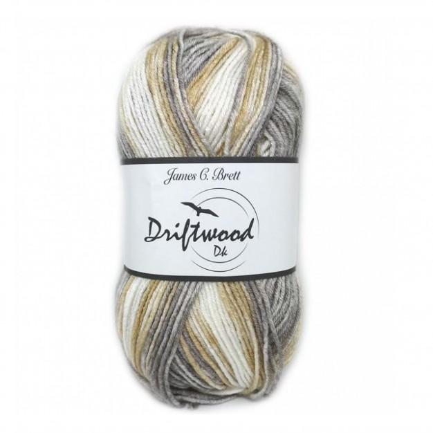 James C Brett Driftwood DK Yarn ( 3-Light , 100g )