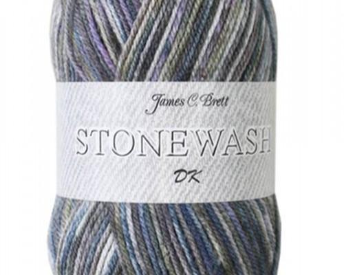 James C Brett Stonewash DK Yarn ( 3-Light , 100g )