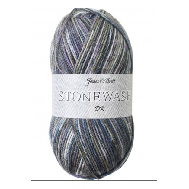 James C Brett Stonewash DK Yarn ( 3-Light , 100g )