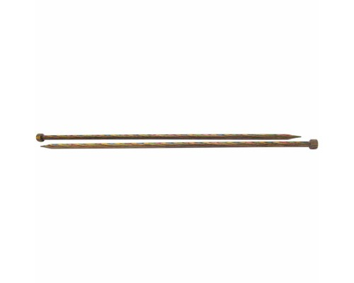 "Knitpicks 14"" (35cm) Rainbow Wood Single Point Needle"