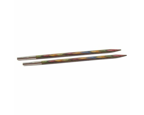 "Knitpicks 5"" Rainbow Wood Interchangeable Tips"