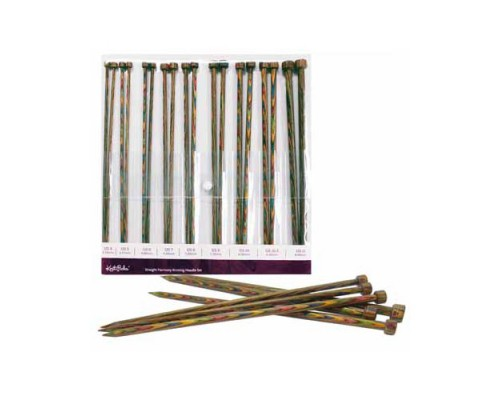 "Knitpicks Rainbow 10""(25cm) Laminated Birch Wood Single Point Set 3.5-8mm"