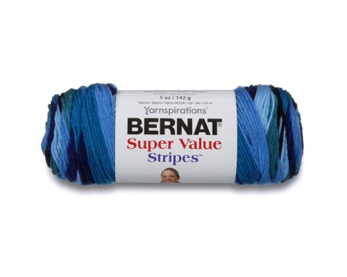 Bernat Super Value Stripes Yarn ( 4 - Medium, 142g )